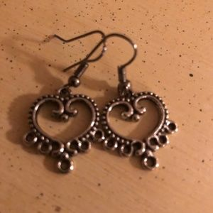 Heart Silver Earrings